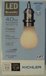Kichler LED 40W/4W A15 Medium Base-Soft White 2700K-Dimmable-513777-Save 2+