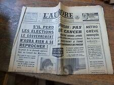 L'Aurore 17 Novembre 1966 n° 6922 / johnson : pas de cancer - grève métro