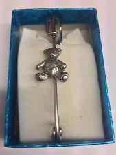 "Baby Teddy PP-G73 Pewter Emblem Kilt Pin Scarf or Brooch 3"" 7.5 cm"