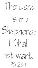 Unmounted Rubber Stamps, Christian Stamps, Bible Verses, The Lord is My Shepherd