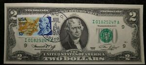 1976 $2 FRN Bicentennial First Day Issue Stamp Uncirculated error lo number 5247