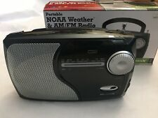 WeatherX Portable NOAA Weather & AM/FM Radio With AC/DC Power Adapter