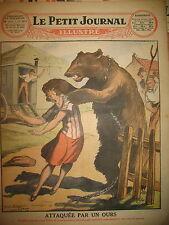 ALLEMAGNE ROMANICHELS ATTAQUE OURS CRATERE VOLCAN VESUVE LE PETIT JOURNAL 1927
