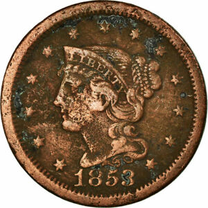 [#518933] Coin, United States, Braided Hair Cent, Cent, 1853, U.S. Mint