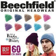 Beechfield Original Pull-On Cuffed Beanie • One Size Soft Touch Hat • 60 Colours