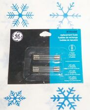 "GE 7 AMPS ~ 125 VOLTS REPLACEMENT FUSES FOR C7 / C9 CHRISTMAS LIGHTS~1-1/4""L~S/2"