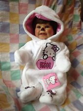 "Lifelike Weighted Jointed 20"" Adora Baby Doll Meets Hello Kitty Newborn Outfit"