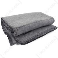 Light Grey Blanket - Lightweight Wool Wooly Winter Throw Cover Camping Emergency