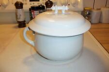 Vintage K. T. & K. Co.  Porcelain Bowl  Pot WITH  Handle and Lid WITH HANDLE