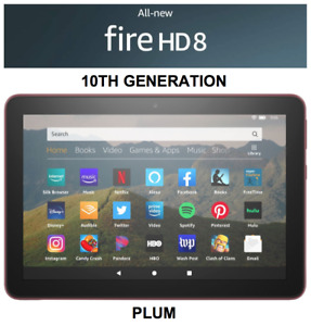 NEW Amazon Fire HD 8 Tablet 64 GB - 10th Generation 2020 Release - PLUM