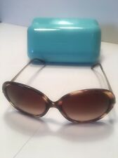 Tiffany sunglasses with Crystal on temples 8081/3B 56 square 17 135 3N Brown