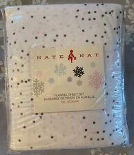 Nate & Nat Full Polka Dot Flannel Sheet Set