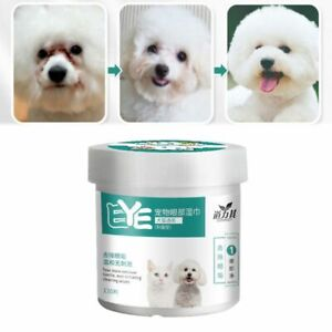 Dogs Cats Tears Remover Pet Eyes Cleaning Wipes Paper Towels Grooming Wet Wipe