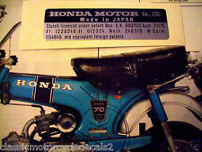 "HONDA ST70 DAX ""HONDA MOTOR Co"" FRAME RESTORATION DECAL"