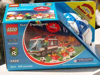 LEGO 3426 - Bus d'équipe de football avec Adidas ball - TOUT NEUF - Collectible