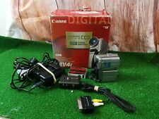 Canon Mv4i Mini Dv Tape Camcorder video camera 40X ZOOM + Accessories +WORKING+