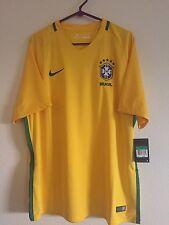 Brazil National Team Soccer Football Shirt Jersey 2016  Men's L