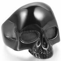 Men's Punk Gothic Rock Rocker Biker Vintage Big Heavy Stainless Steel Skull Ring