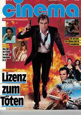 Cinema Zeitschrift, Heft Nr. 135, August 1989, KEVIN COSTNER, JAMES BOND