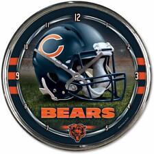 Nfl Chicago Bears Wall Clock Chrome Watch Football