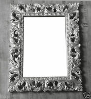 Wandspiegel Silber Antik Barock Repro Shabby Vintage GLAMOUR 100x80 Spiegel WOE