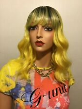 NWT BOBBI BOSS Gorgeous Classic Style Wig Wavy Look Yellow Ombre with Bangs