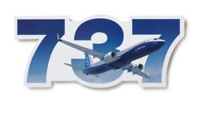 NEW Boeing 737 Sticker, UPC # 585085030044