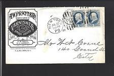 NEW YORK PO, NEW YORK 1880 ILLUST ADVT. HARDWARE, A.W. PRATT & CO,VARNISHES.