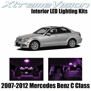 XtremeVision Interior LED for Mercedes C Class 2007-2012 (18 PCS) Pink