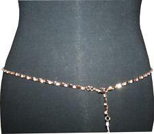 Women's Gold Chain Belt with Rhinestone