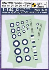 1/144 Decals: WW2 RAAF Type A Decals Various sizes : MARK 1