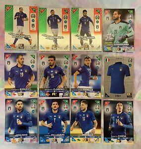 PANINI ADRENALYN XL EURO 2020 2021 KICK OFF FULL TEAM SET OF 12 ITALY CARDS