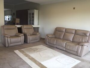 Leather Lounge Suite Recliner