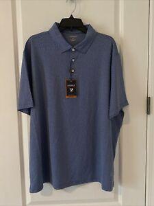 NWT Cremieux Stripe Performance Short-Sleeve Polo Shirt XXL