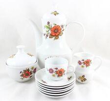 FULL 29 PCs COFFEE DEMITASSE TEA SERVICE SET VINTAGE KAHLA GERMANY CHINA FLORAL