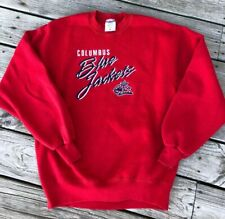 Jerzees Columbus Blue Jackets Hockey First Logo Embroidered Sweatshirt Size L