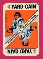 1971 Topps Game # 28 Roman Gabriel - Los Angeles Rams -- Box 708-270