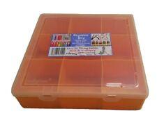 Wham Orange Organiser Crafting Storage Box Tub Compartments