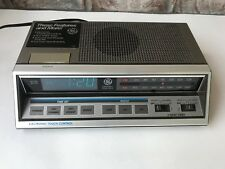 Vintage General Electric 7-4663A Alarm Clock Radio Blue LED Electric Touch