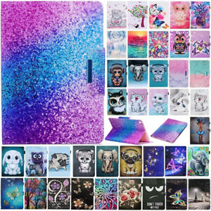 For iPad 8th 7th Gen 5th 6th Generation Painted Magnetic Smart Case Stand Cover