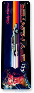Spy Hunter Arcade Sign, Classic Arcade Game Marquee, Game Room Tin Sign B037