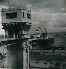 ALGÉRIE c. 1950 - Ascenceur de la Gare  Port  Quais  Bateaux  Alger - Div 11374