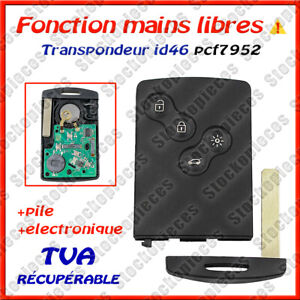 Carte Vierge Pcf7952 Main Libre Compatible  Megane 3 Scenic 3 Laguna 3