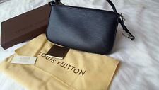 Sac pochette LOUIS VUITTON noir, collection épi - neuf