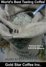 4 lbs - 100% Hawaii - Hawaiian Kona Coffee Green Beans - For Home Roasting