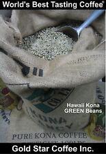 10 lbs - 100% Hawaii - Hawaiian Kona Coffee Green Beans - For Home Roasting