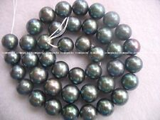 """freshwater pearl black round 16"""" nature A grade 10-11mm loose beads wholesale"""
