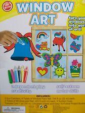 Window Art Activity Kit Suncatchers Birthday Party Crafts Supplies
