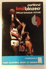 Portland TrailBlazers Blazers 1979-80  Brewer NBA Pocket Schedule bundle NEW