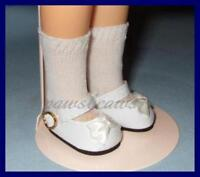 """WHITE Patent Mary Jane SHOES fit 12"""" SHIRLEY TEMPLE Doll FREE U.S.SHIPPING"""